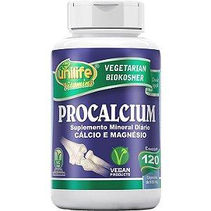Procalcium Cálcio e Magnésio 120 caps - Unilife Vitamins