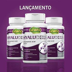 Hyaluderm ácido hialurônico 650mg 60 caps - Unilife Vitamins - KIT  3 UNIDADES