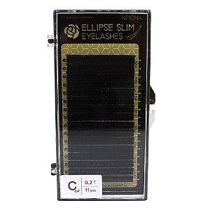 Fios para extensão 16 linhas 11mm Elipse Slim C 0,02 Neicha