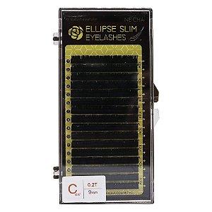 Fios para extensão 16 linhas 9mm Elipse Slim C 0,02 Neicha