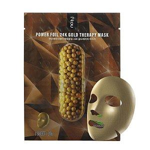 Mascara Facial Coreana Nohj Power Foil 24K Gold Therapy Mask