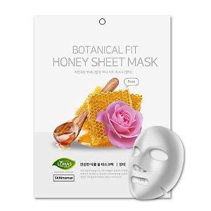 Máscara Facial Coreana Nohj Botanical Fit Rosa e Mel