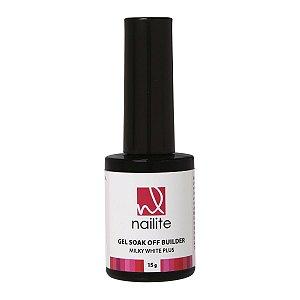 Gel Soak Off Builder Milky White Plus Nailite 15g