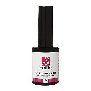 Gel Soak Off Builder Violeta Translúcido Nailite 15g