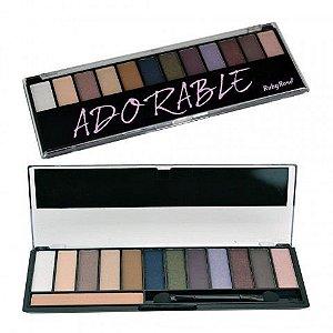 Paleta de Sombras Adorable 12 cores com Primer - HB9909 - Ruby Rose