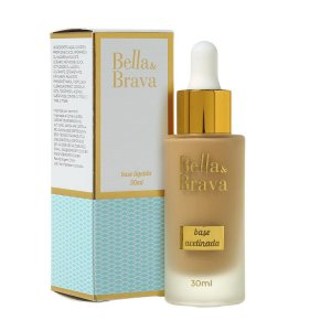 Base Líquida Acetinada Bella e Brava 30ml