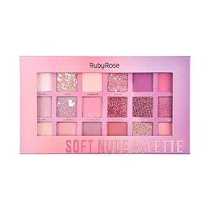 Paleta de Sombra Soft Nude Palette Ruby Rose