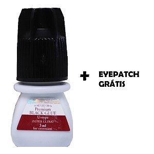 Cola Super Ultra Premium Black 3ml + Eye Patch Grátis
