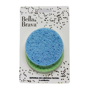 Esponja para esfoliação e limpeza facial Bella & Brava
