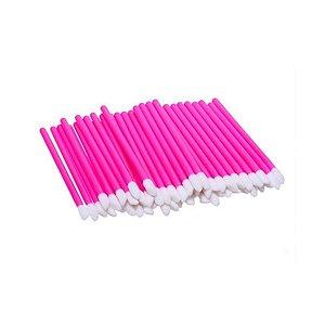 Bastão aplicador de maquiagem pct. com 50 un. rosa