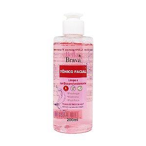 Tônico de limpeza facial Bella & Brava 200 ml