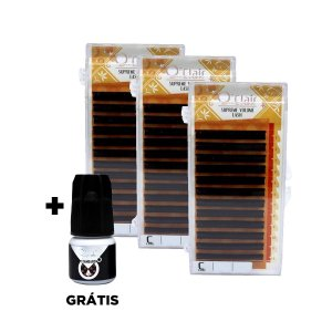Kit fios o'clair 0.06mm 9/11/13mm + adesivo Standard 2g grátis