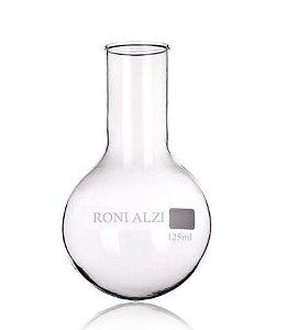 Balão Fundo Redondo Em Vidro Cap 125Ml Ronialzi