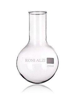 Balão Fundo Redondo Em Vidro Cap 250Ml Ronialzi