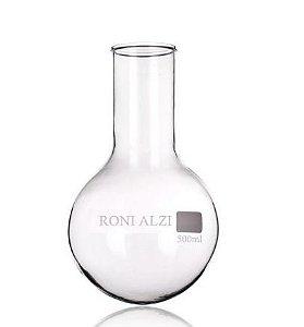 Balão Fundo Redondo Em Vidro Cap 500Ml Ronialzi