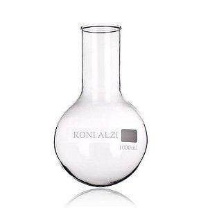 Balão Fundo Redondo Em Vidro Cap 1000Ml Ronialzi
