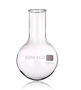 Balão Fundo Redondo Em Vidro Cap 2000Ml Ronialzi