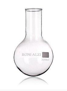 Balão Fundo Redondo Em Vidro Cap 3000Ml Ronialzi