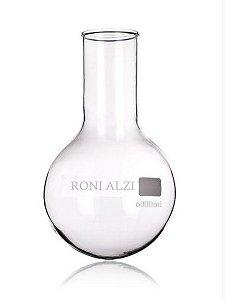 Balão Fundo Redondo Em Vidro Cap 5000Ml Ronialzi