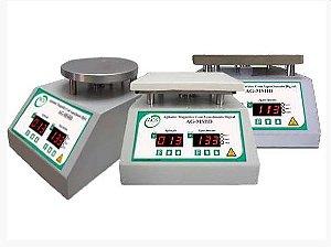 AGITADOR MAGNETICO DIGITAL C/AQUEC. 300ºC PLAT. ALUMINIO 165X165MM (AGITA DE 5ML a 10L)