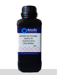 Acetato De Chumbo Basico Pa (Sub-Acetato) (Seg.Horne)  1Kg Exodo Cientifica