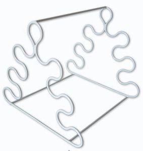Estante Em Arame Com Pvc Para Pipetas Triangular Ricilab
