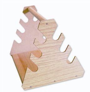 Suporte Triangular De Madeira Para 6 Pipetas Ricilab
