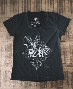 Camiseta Tsuru - Baby look - Preta