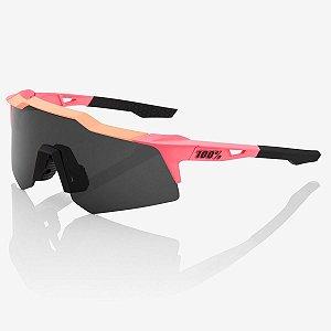 Óculos Ciclismo 100% Speedcraft XS Original Rosa Soft Fumê