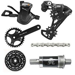 Kit Transmissão SunRace Bike Mtb Dkm M900 1 x 9v 11-50 Single