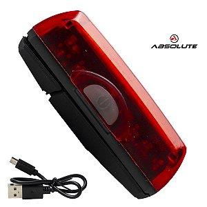Pisca Traseiro Vista Lanterna Bike Bateria USB Absolute