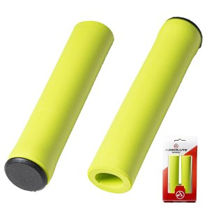Manopla Absolute Silicone NBR1 Bike Mtb Amarelo Neon