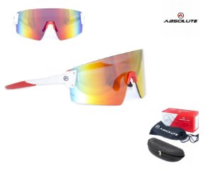 Óculos Ciclismo Bike Absolute Prime Ex Lente Uv 400 Vermelho