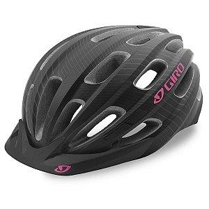 Capacete Ciclismo Giro Vasona Feminino Preto Rosa 50-57cm
