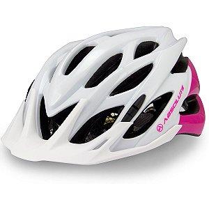 Capacete Ciclismo Absolute Feminino Mia Com Sinalizador LED 52-57cm