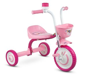 Triciclo Bike Moto Infantil Menina You Girl Rosa Nathor