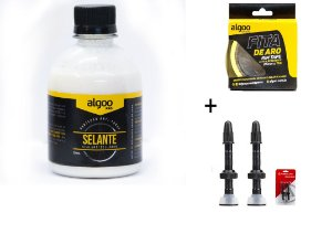 Kit Tubless Bike Mtb 29 Selante 250ml + Fita25mm + Válvula Par