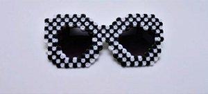 Óculos Fashionista Preto e Branco