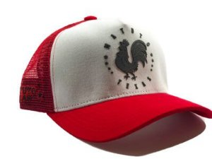 Matuto Red White Rooster Trucker