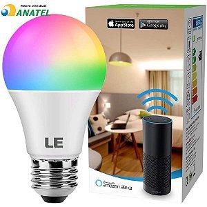LAMPADA INTELIGENTE SMART RGB WIFI LED BULBO ALEXA GOOGLE