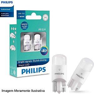 Lâmpada Led Philips T10 6000K 12V Pingo Super Branca