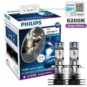 Lampada Super Led H4 Philips Xtreme 6200k Original Garantia 3 Anos