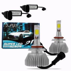 Kit Lampada Super Led H3 6000k Efeito Xenon Super Branca