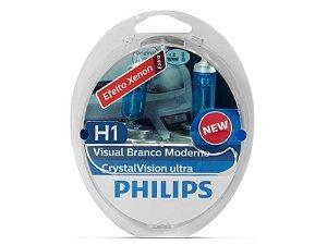 Lampada Philips H1 Crystal Vision Ultra 4300K 55W