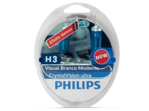 Lampada Philips H3 Crystal Vision Ultra 4300K 55W Original