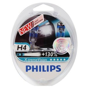 Lampada Philips H4 Xtreme Vision 3700K 55w 130% Mais Luz
