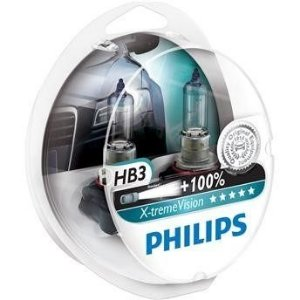 Kit Lampada Philips HB3 Xtreme Vision 3350K 55W 100% Mais Luz