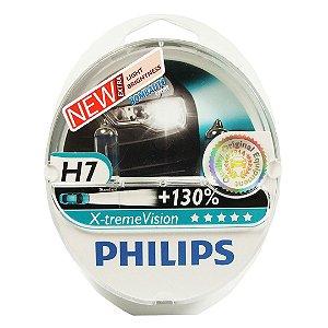 Kit Lampada H7 Philips Xtreme Vision 3700K 130% Mais Luz