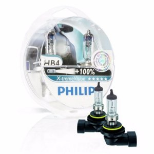 Par de Lâmpadas Philips Xtreme Vision HB4 3350K 55W Dobro de Alcance