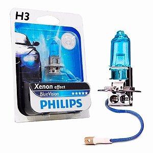 Lâmpada para Farol Philips Blue Vision H3 12V 55W Unidade